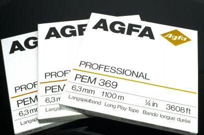 Agfa PEM 369, 1100 Meter auf 26 CM Spule